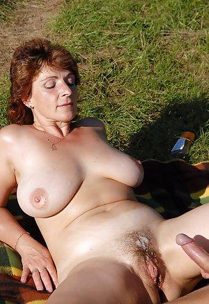 Granny Outdoor Porn Pics